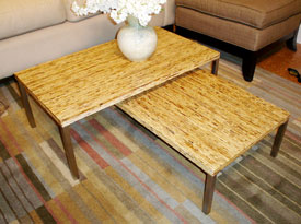Nestling bamboo coffee table