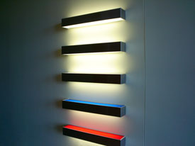 Illuminated stainless-steel and lucite
