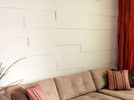 Painted contemporary walls